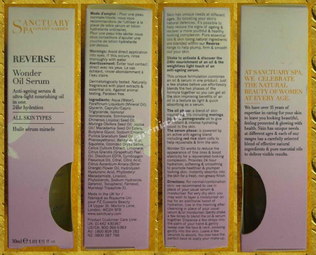 Масляная сыворотка Wonder oil serum описание